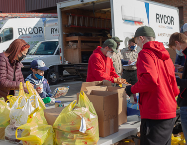 Rycor Team Food Drive